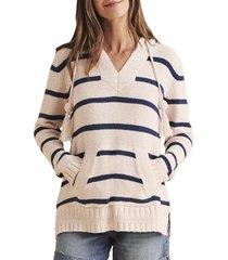 women's faherty kent sweater hoodie, size x-large - beige