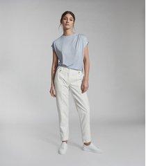 reiss leandra - fine jersey t-shirt in pale blue, womens, size xl