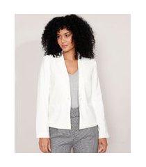 blazer básico com bolsos off white
