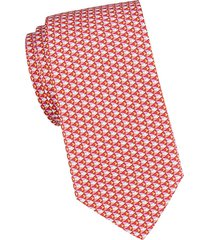 fish-print silk tie