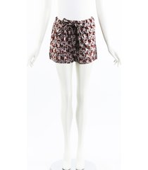marni geometric metallic cotton shorts