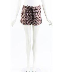 marni geometric red metallic cotton shorts red/geometric sz: s