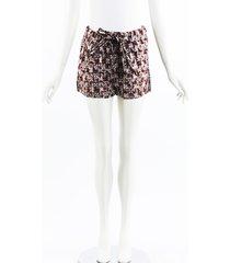 marni geometric metallic cotton shorts