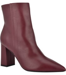 nine west women's medium cacey 9x9 heeled booties women's shoes