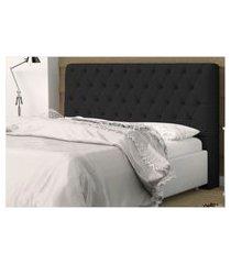 cabeceira casal king 186 cm para cama box lady suede - ds móveis