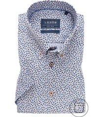 ledub overhemd korte mouw modern fit print