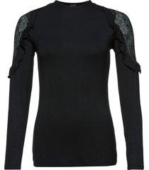 maglia a maniche lunghe con pizzo (nero) - bodyflirt