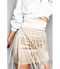 akira famous pearl mini skirt