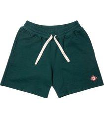logo patch jersey shorts