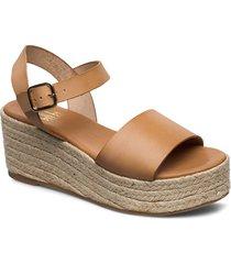 espadrilles 4342 sandalette med klack espadrilles brun billi bi