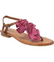 sandalia cuero lorn rosa mujer rockford