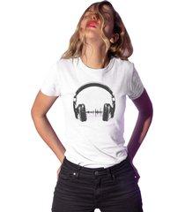 camiseta basica my t-shirt headphones branco