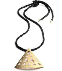 natori gold platedss cut out necklace, women's natori