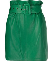 federica tosi high-waisted belted skirt - green