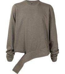 drkshdw taupe brown cotton sweatshirt
