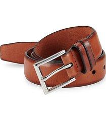 feathered edge leather belt