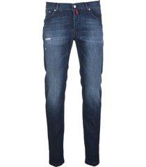 kiton slim denim jeans