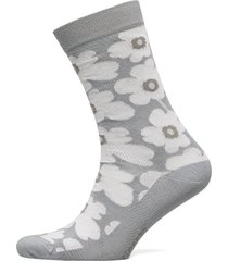 hieta unikko socks lingerie socks regular socks grå marimekko