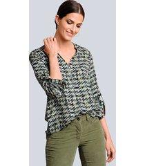 blouse alba moda marine::groen