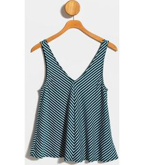 denton striped tank top - green