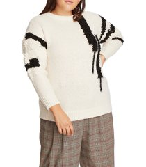 1.state loop stitch sweater, size 1x in antique white at nordstrom