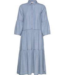 nuanna dress knälång klänning blå nümph