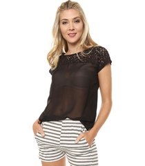 blusa negra ted bodin