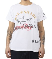 paul & shark by greg lauren white souvenir shark tee 2