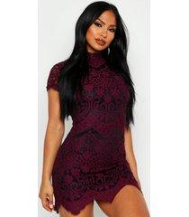 boutique kanten bodycon jurk, berry