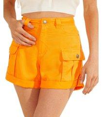 guess iris cuffed cargo shorts