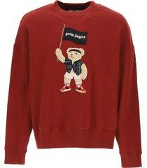 palm angels pirate bear crewneck sweatshirt