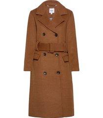 camillsz coat wollen jas lange jas bruin saint tropez