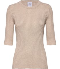 mary tencel t-shirts & tops knitted t-shirts/tops beige line of oslo