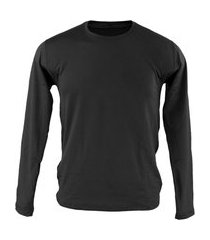 blusa térmica masculina segunda pele thermo premium original slim fit - preto