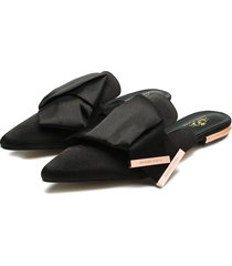zuecos paris hilton de moda - negros