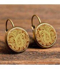 orecchini a goccia rotonda retrò orecchini a fiore personalizzati orecchini gancio francese per le donne