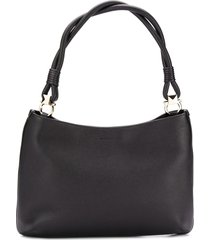 salvatore ferragamo braided handle shoulder bag - black