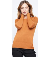sweater basico cuello redondo camel family shop