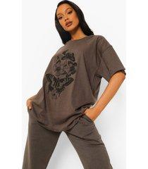 oversized vlinder t-shirt, charcoal