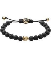 diesel men's stackables lava beaded bracelet