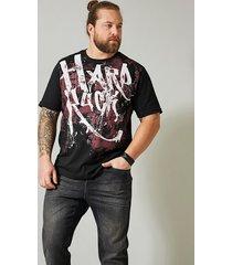 t-shirt men plus svart::bordeaux