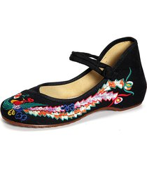 phoenix ricamo chineseknot national wind retro vintage slip on flat shoes