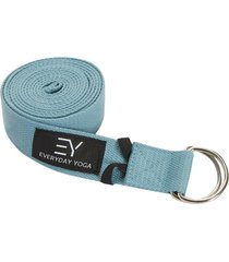 everyday yoga 8 foot strap d-ring slate blue cotton/polyester