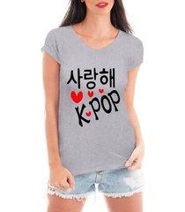 blusa criativa urbana love kpop estilo coreano