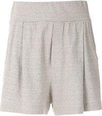 osklen rustic eco ribbed shorts - grey