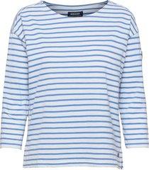 docksides sail top t-shirts & tops long-sleeved blå sebago