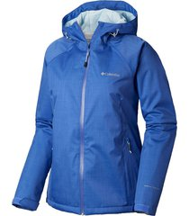 casaca top pine insulated rain jacket azul columbia