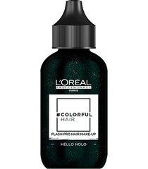 coloração temporária l'oréal professionnel colorful hair flashpro hair make-up cor hello holográfic