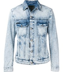 philipp plein destroyed jacket - blue