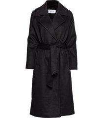copenhagen coat wollen jas lange jas zwart camilla pihl